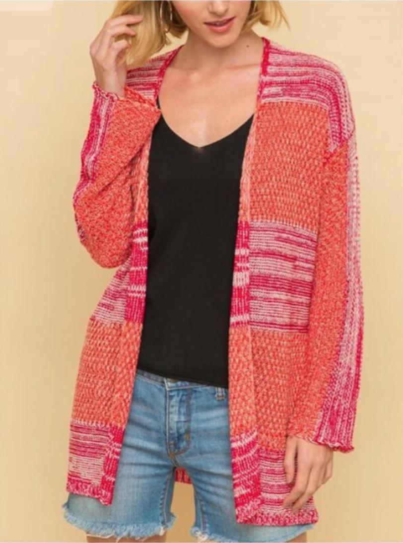 Red/Orange Knit Cardi