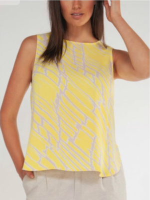Yellow Abstract Tank