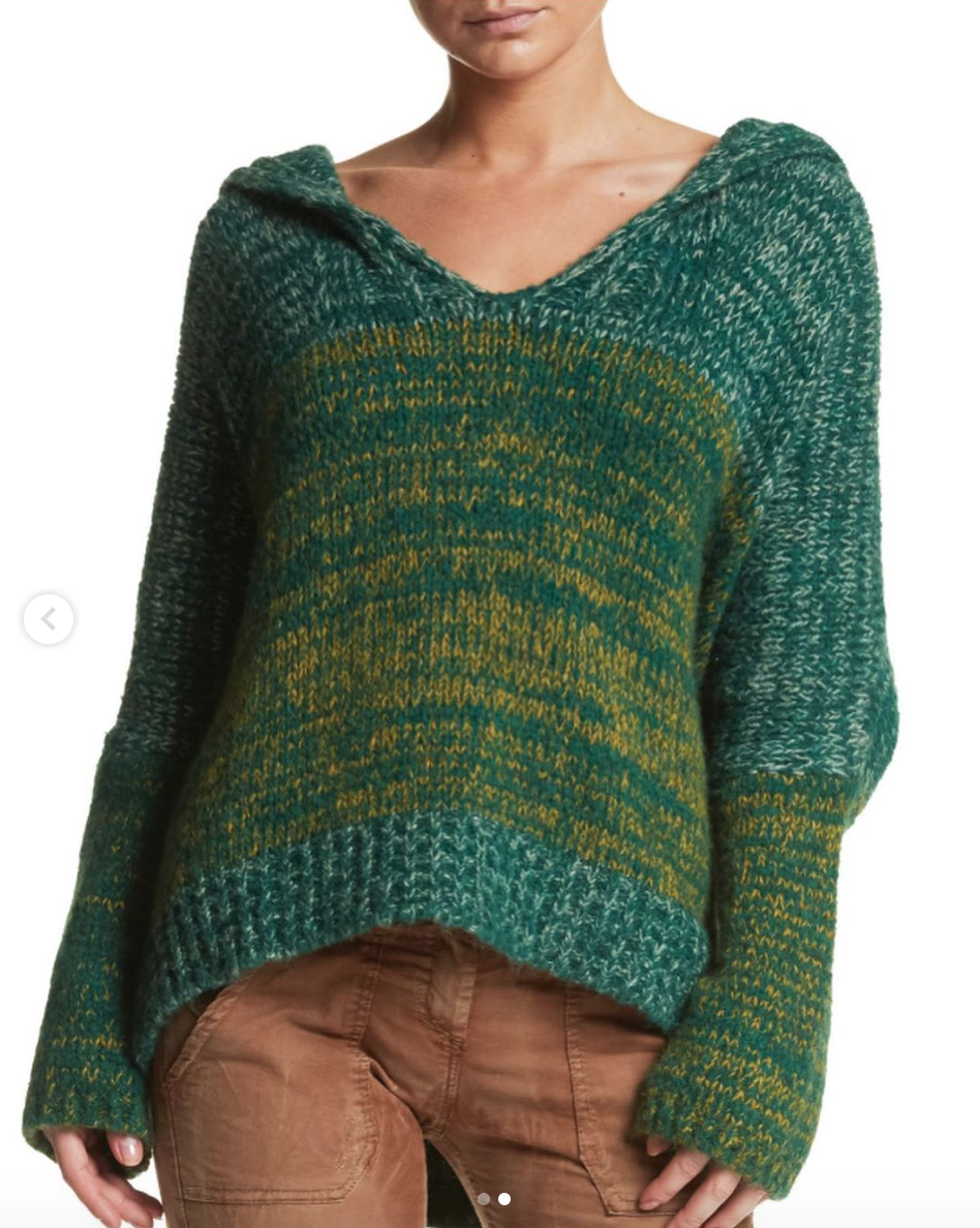 Green Hooded Sweater
