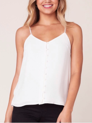 Ivory Button Cami