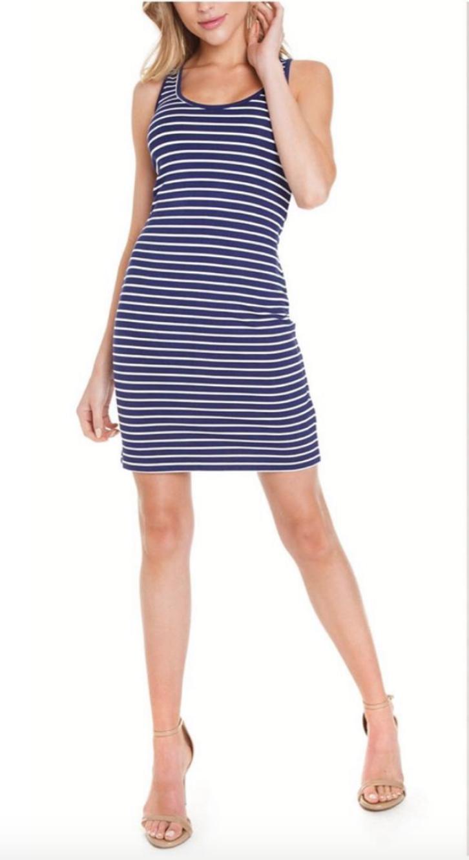 Navy Summer Stripe Dress