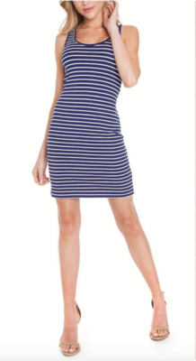 Navy Summer Stripe Dress