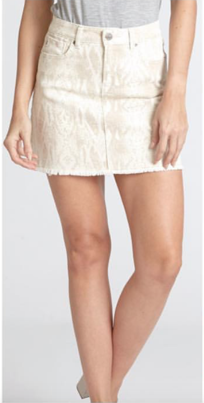Snake A-Line Skirt
