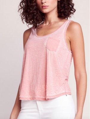 Rose Burnout Twist Tank
