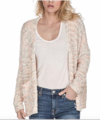 Ivory Speckled Chenille Cardi