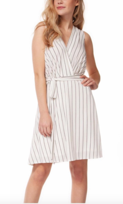 Stripe Crossover Dress
