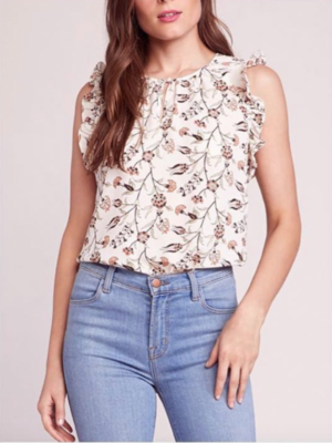 Ivory Printed Blouse
