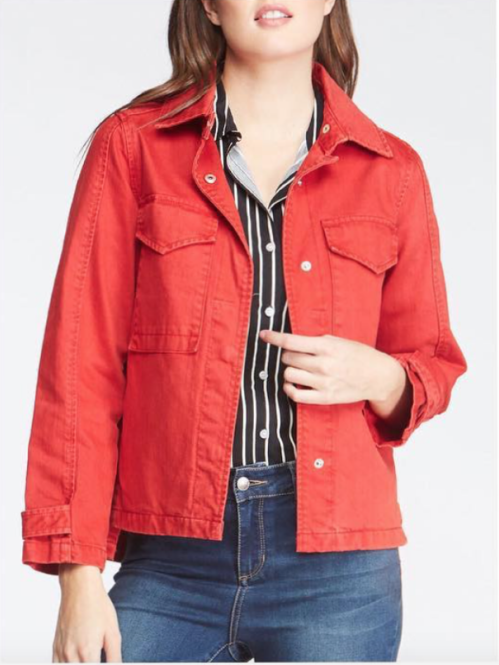 Red Denim Jacket