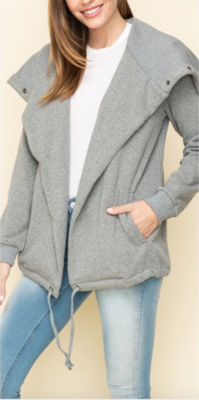 Wide Collar Fleece Jkt