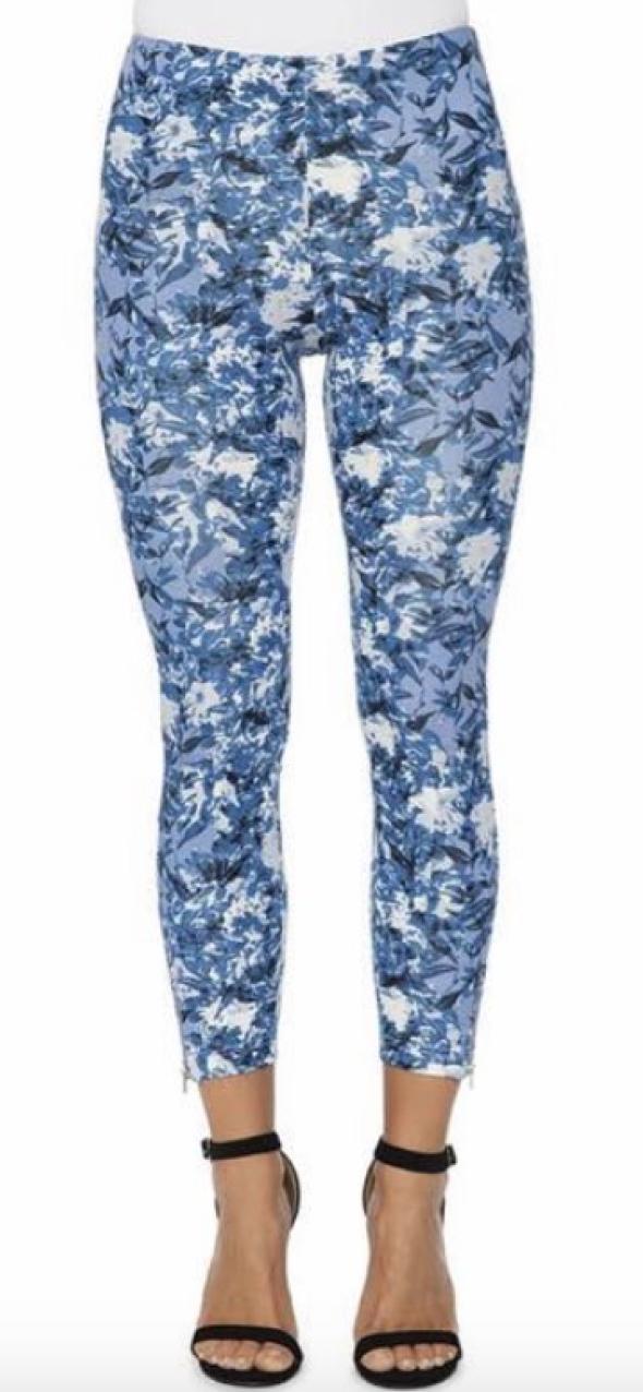 Indigo Floral Zip Legging