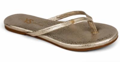 YS Gold Flip Flops