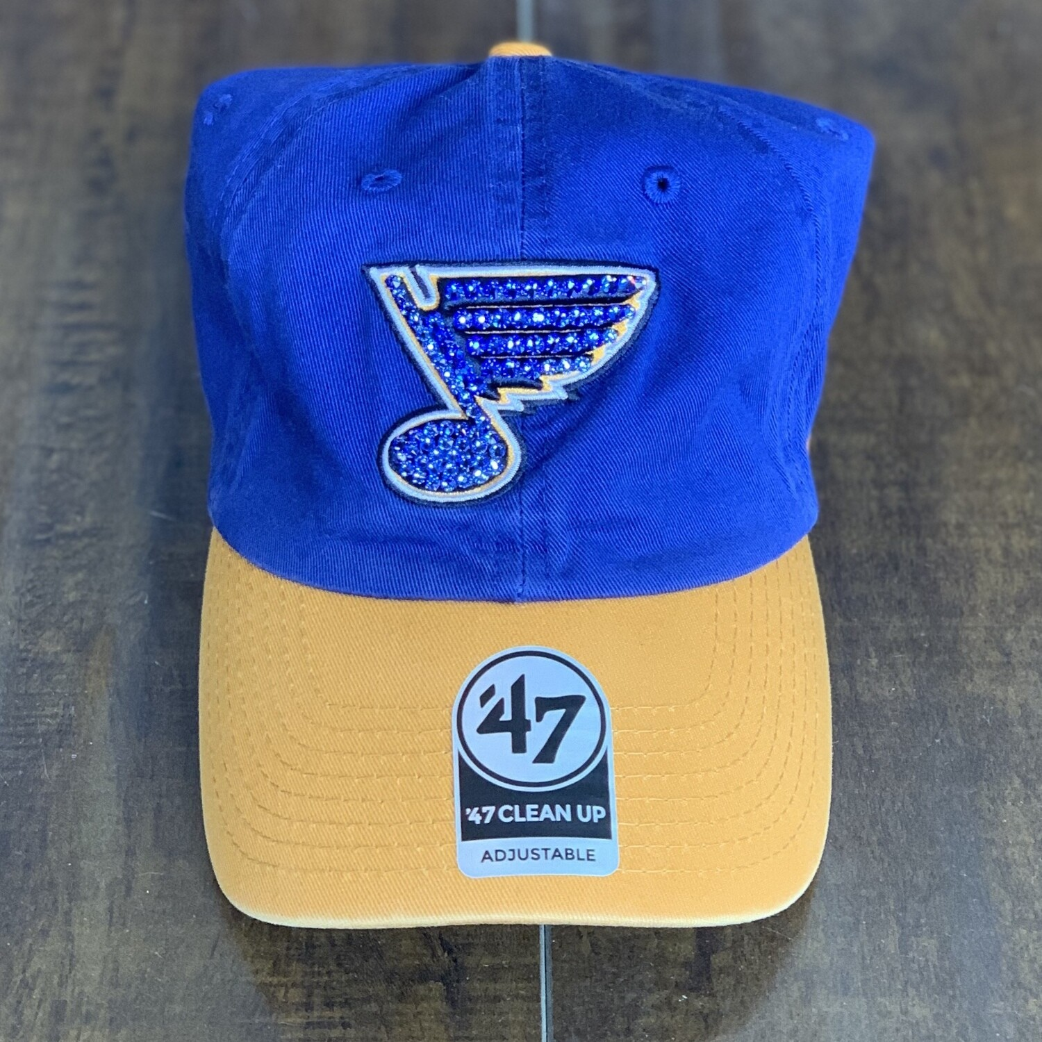 Blue/Yel '47 Hat W/ Blue Crystal