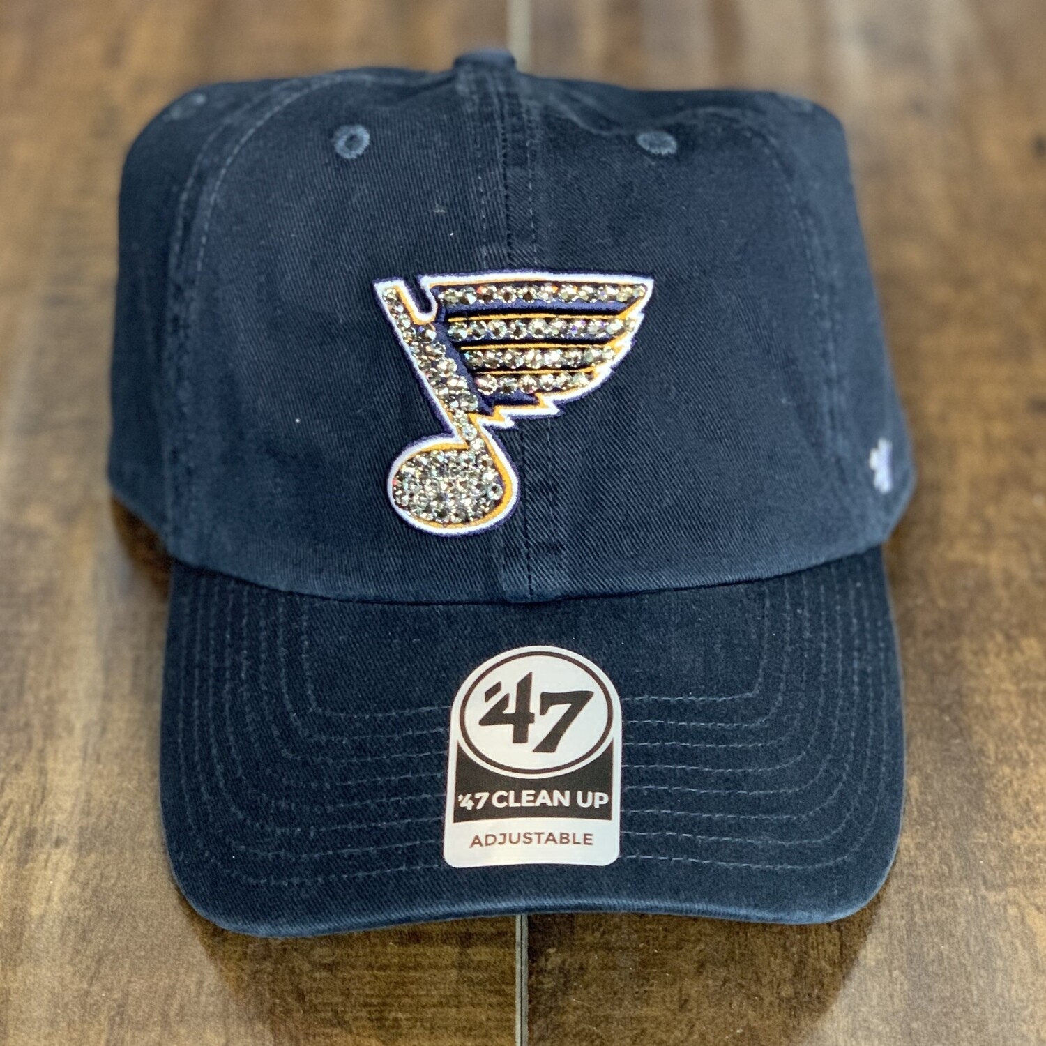 Navy '47 Hat W/ Grey Crystal