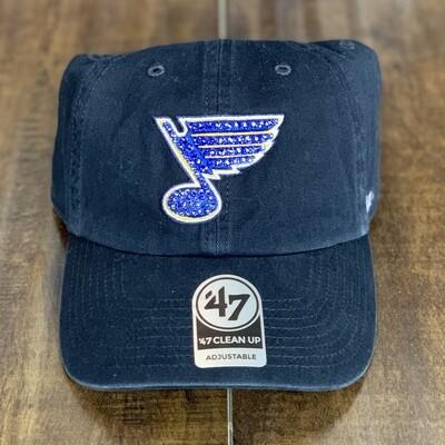 Navy '47 Hat W/ Blue Crystal
