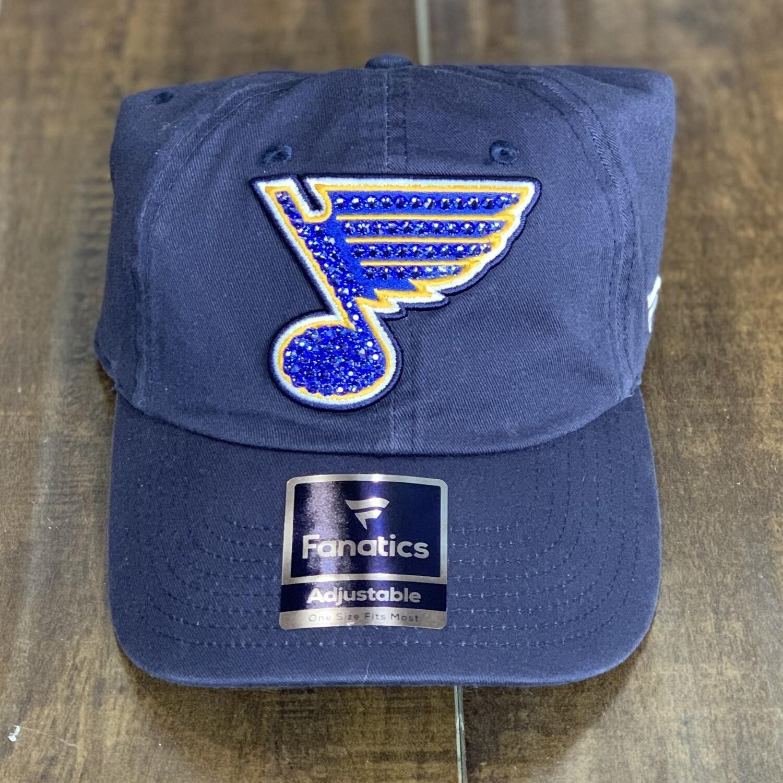 Navy Fanatics Hat W/ Blue Crystal