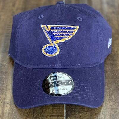 Navy New Era Hat W/ Blue Crystal