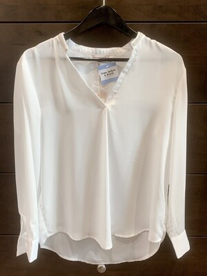 White Beaded Collar Blouse