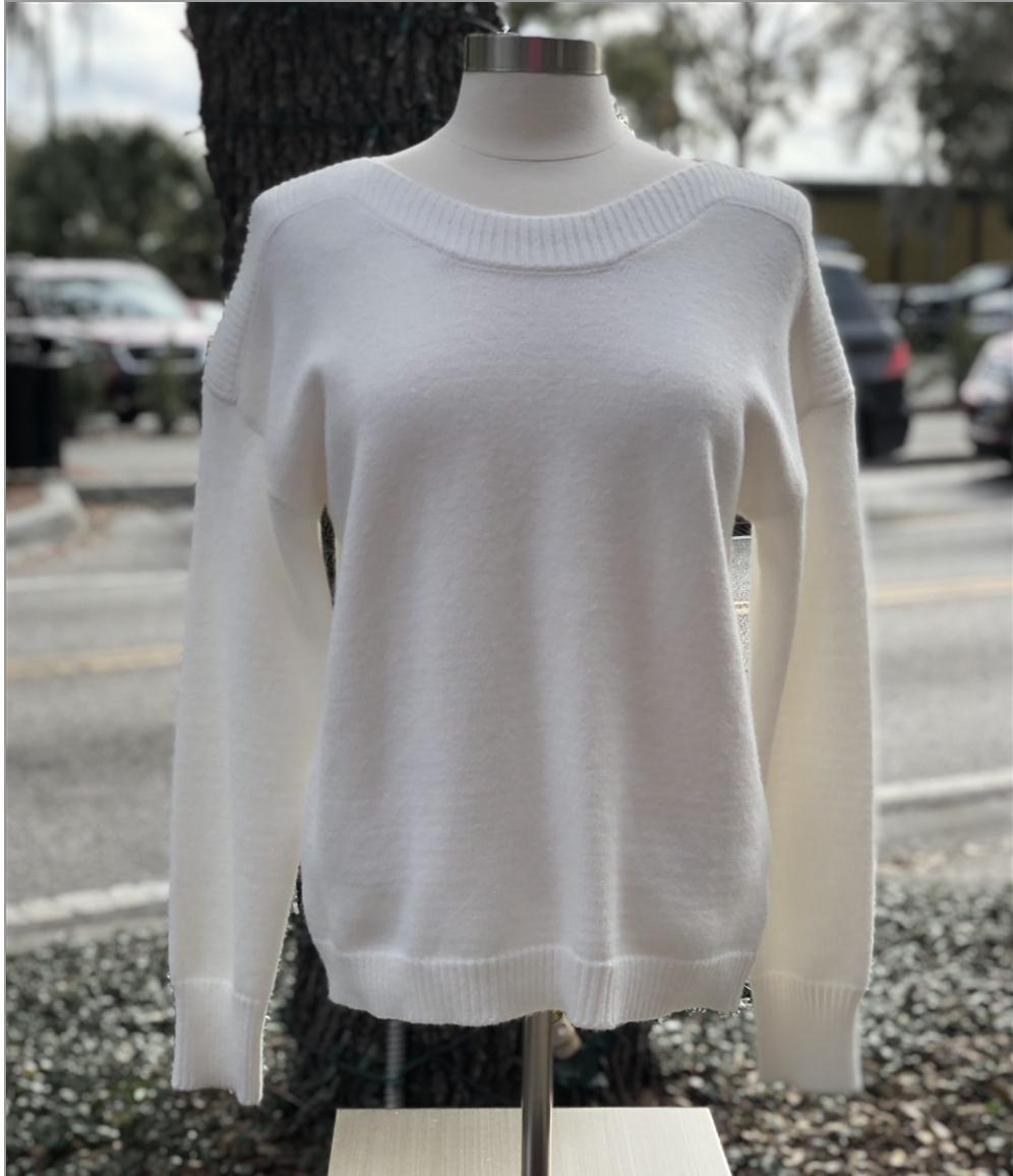 White L/S Pullover