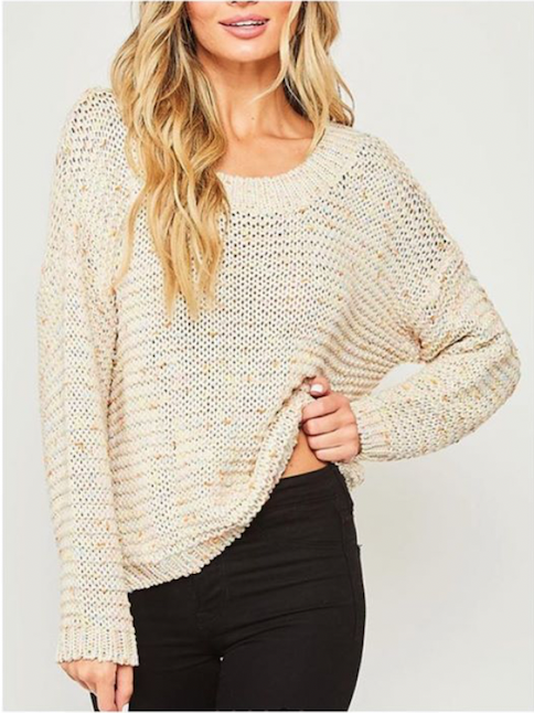 Ivory Speckled Sweater