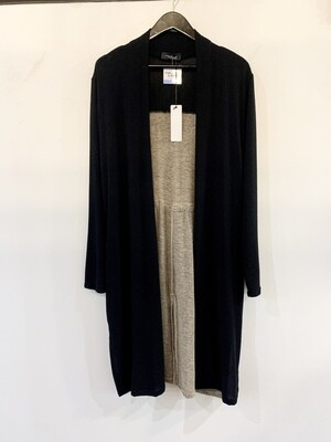 Black/Camel Color Block Cardigan