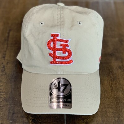 Beige '47 Hat W/ Red Crystal
