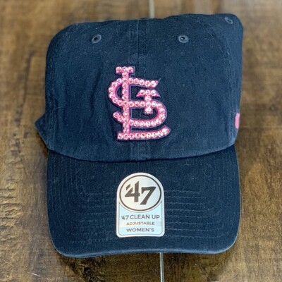 Navy '47 Hat W/ Pink Crystal