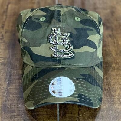 Camo New Era Hat W/ Grey Crystal