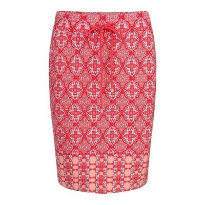 Red Kaleidoscope Skirt