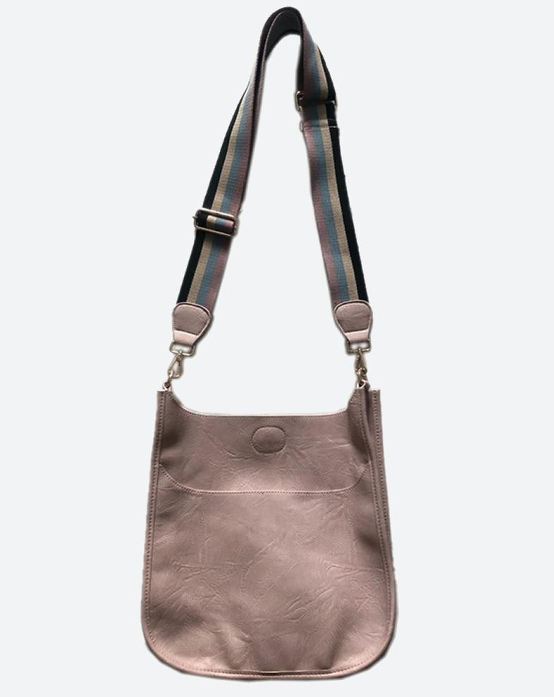 Leather W/ Strap Handbag