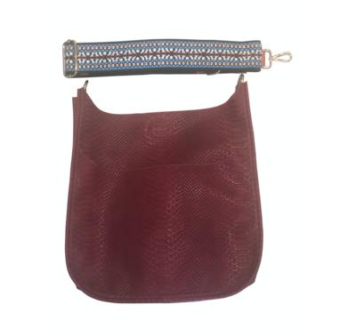 Faux Snake Skin Bag W/ Strap