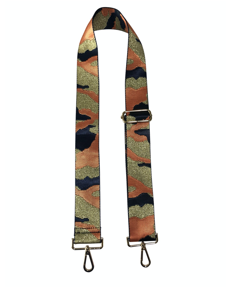 Navy/Orange Camo Guitar Strap