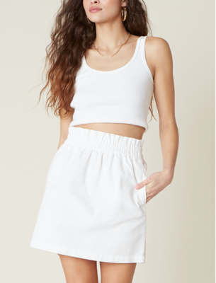 White Paper Bag Skirt