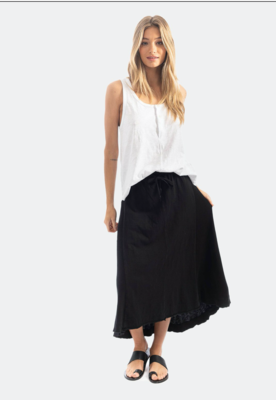Blk Hi-Low Skirt