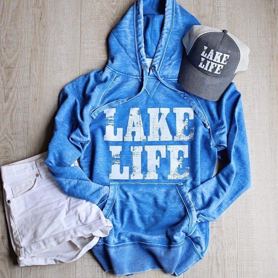 Blue 'Lake Life' Hoodie