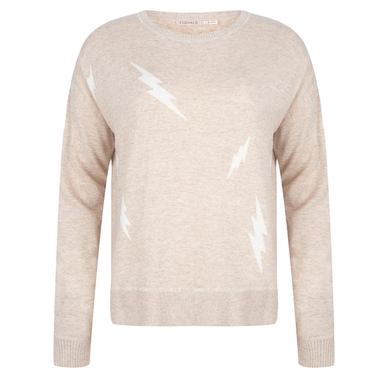 Beige Lightning Sweater