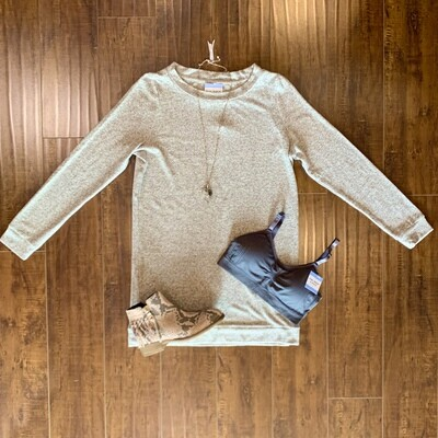 Heather Grey Cozy Dress