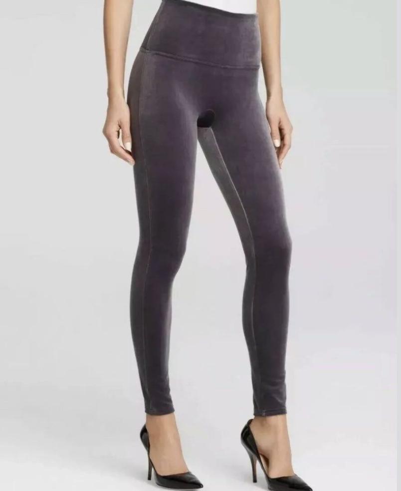 Grey Velvet Legging