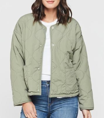 Olive Sherpa Jacket