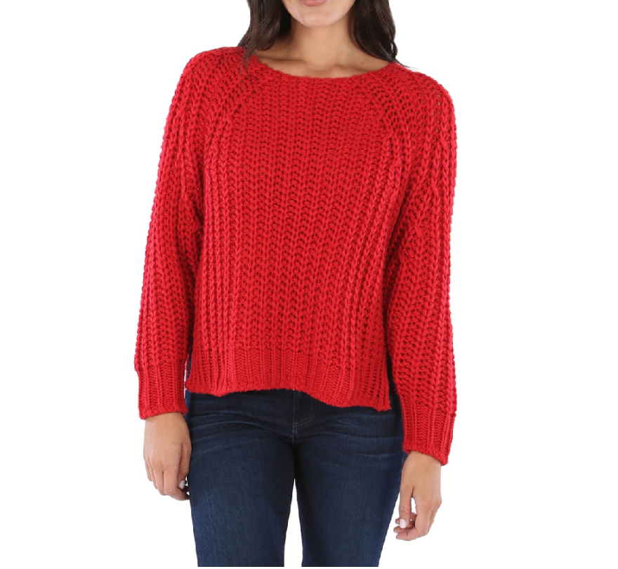 Red Page Knit Sweater