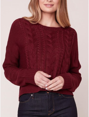 Berry Cable Sweater