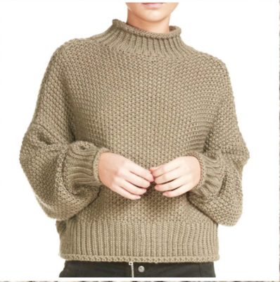 Taupe Turtle-Neck Sweater