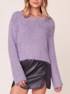 Lavender Fuzzy Sweater