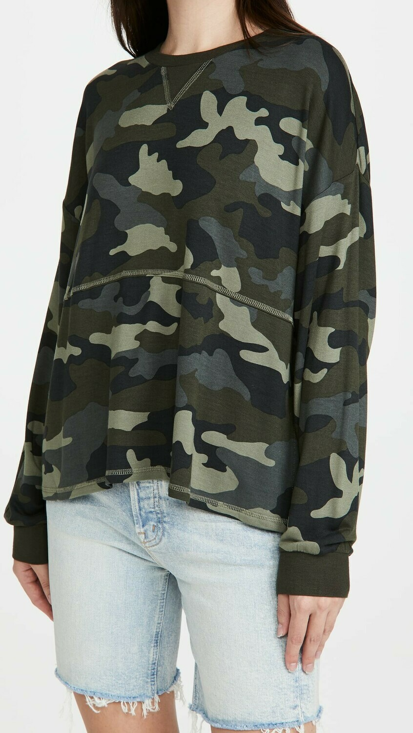 Army Green Camo top
