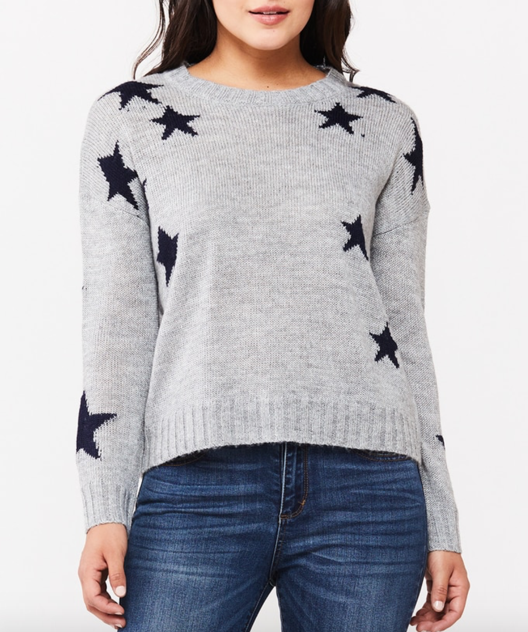 Gry/Navy Stars Pullover
