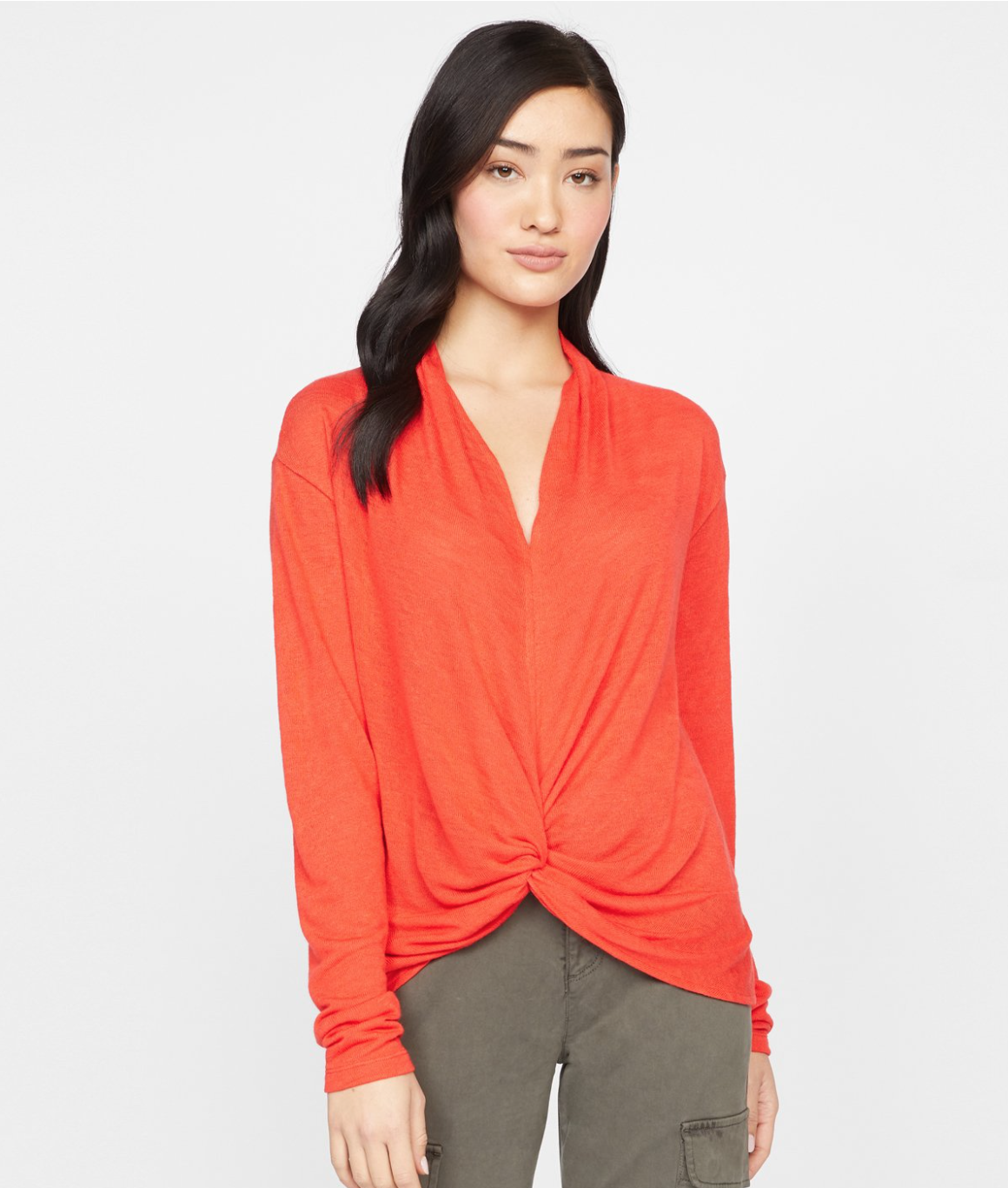Red 'Knot Interested' Top