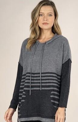 H. Grey Stripe Pullover