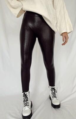 Spanx Brn/Blk Croc Legging