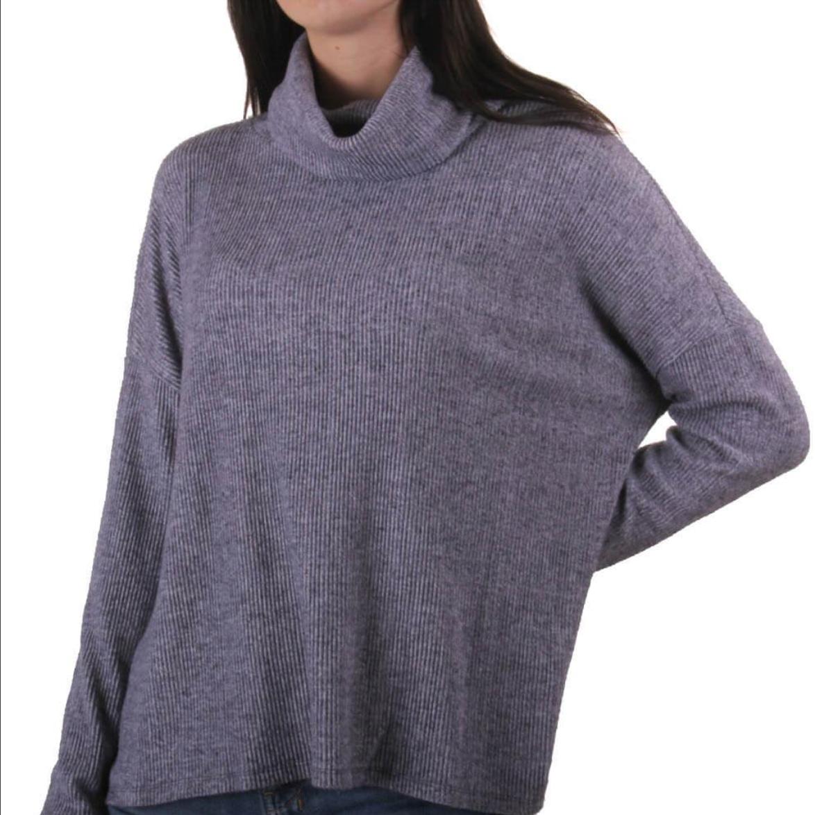 Grey Flecked Cowl Neck Top