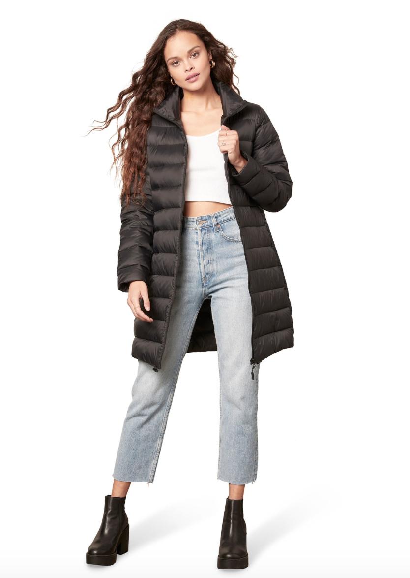 Black Warm Front Puffer Coat