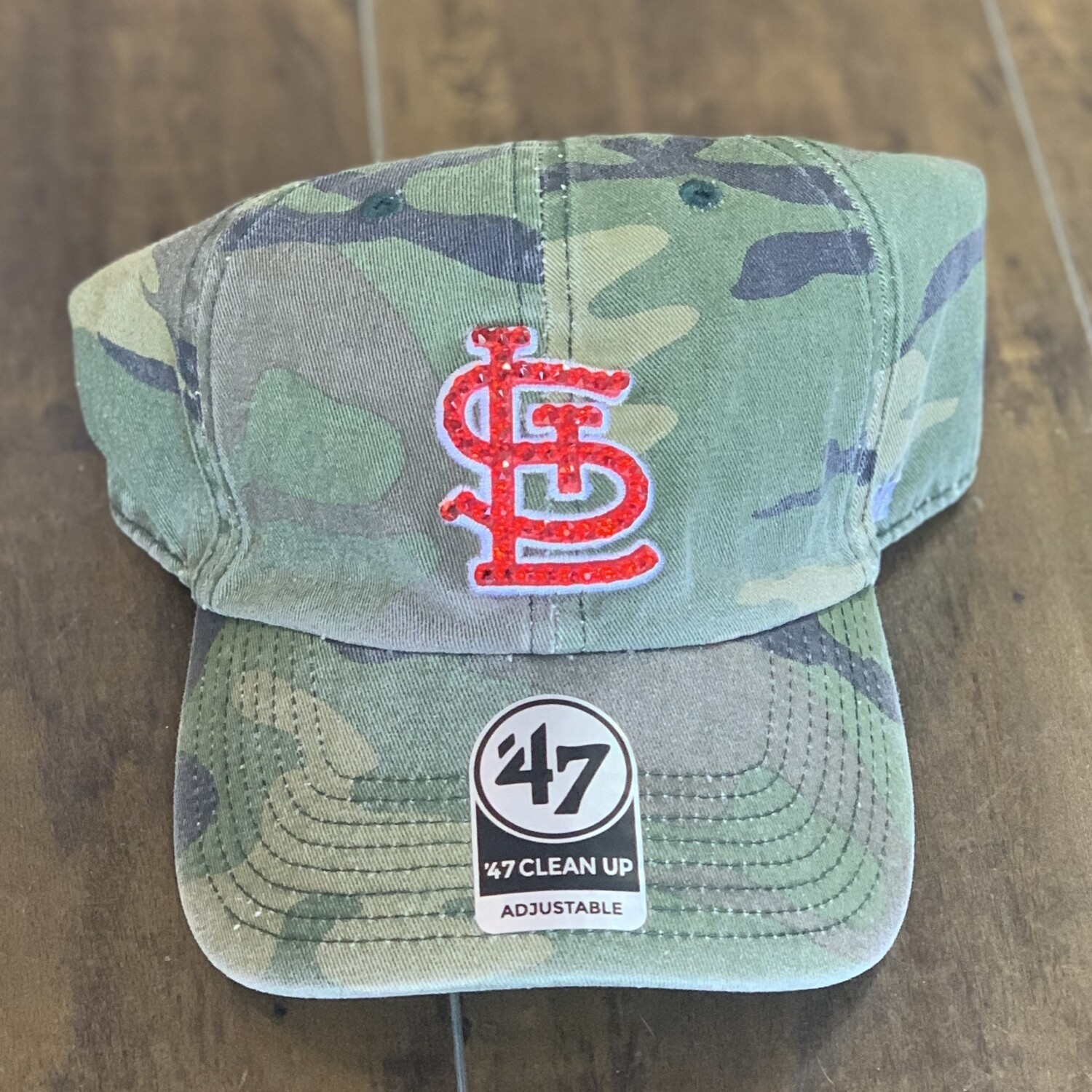 Camo '47 Hat W/ Red Crystal
